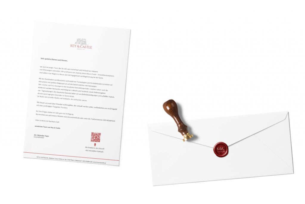 Immobilienmarketing mit Brief und Siegel bei Key & Castle. Online-Besichtigungen leicht gemacht.
