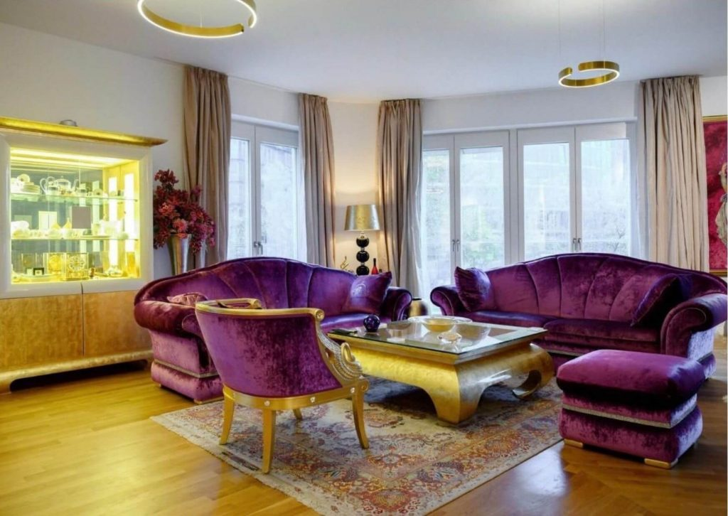 Luxusapartment Wohnzimmer am Potsdamer Platz.