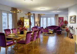 Luxusapartment am Potsdamer Platz in Berlin. Goldene 18-Karat Dekoration.