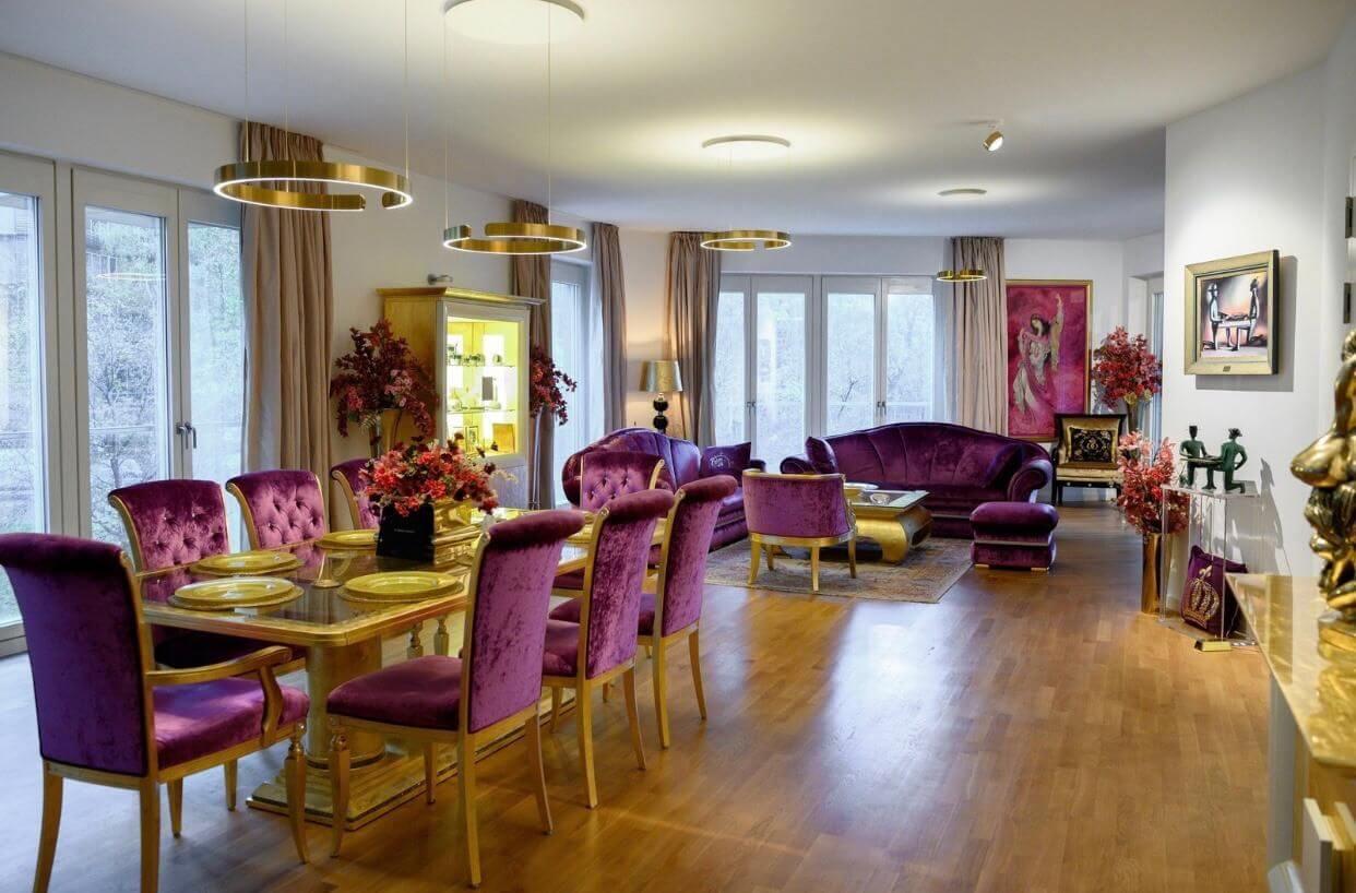 Luxusapartment in Berlin am Potsdamer Platz. Innenaufnahmen einer Wohnung.